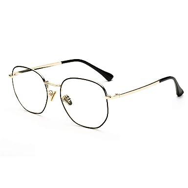 HAIBUHA Brille Retro-Rahmen Rundes Gesicht Gro/ßer Rahmen Brillengestell