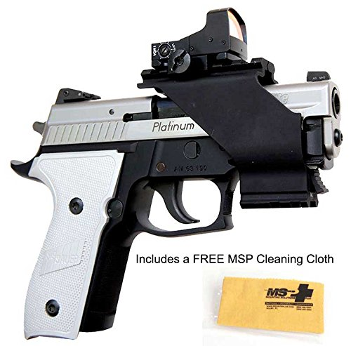 UM Tactical Universal Pistol Sight Mount with FREE MSP Cleaning Cloth by UM Tactical
