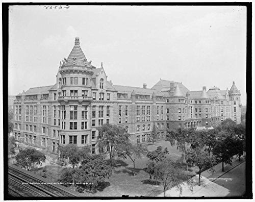 24 X 20 Art Canvas Print Of Diamond National Bank And Wabash Terminal Pittsburgh Pa  1900 Detriot Publishing Co  71A