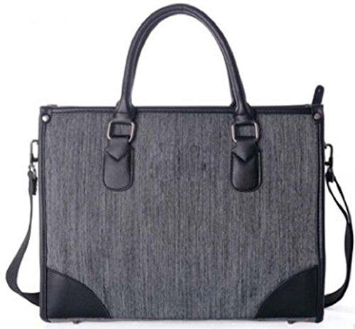 Shikyou  2Way Business Shoulder Bag 14 Inch Laptop Messenger Bag  Gray