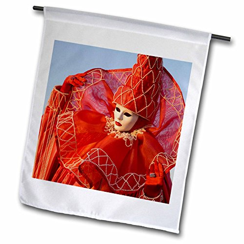 Danita Delimont - Venice - Italy, Venice, Carnival festival Costumes - EU16 BJA0778 - Jaynes Gallery - 12 x 18 inch Garden Flag (fl_82076_1) - Venice Festival Costumes