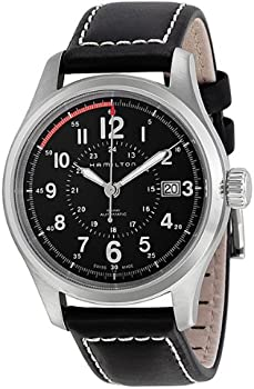 Hamilton H70595523 Khaki Field Analog Swiss Automatic Black Men's Watch