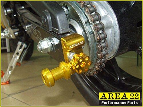 Area 22 Swingarm Spool Mounts Bobbins for 2014//2015 Honda MSX125 Grom Black