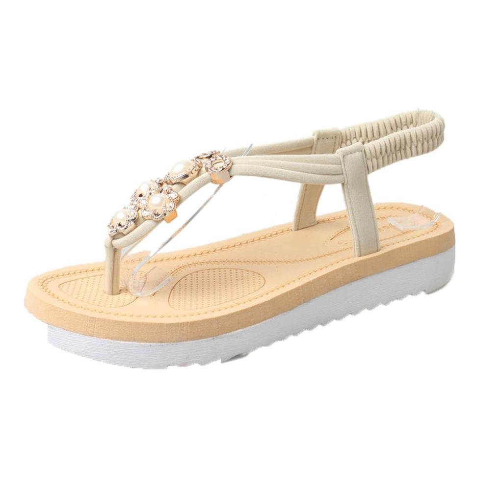 Lookatool Women Thick Soled Sandals Summer Students Slip Flat Muffin Leisure Women Sandals B073XCW7BH 6.5 B(M) US|Beigei