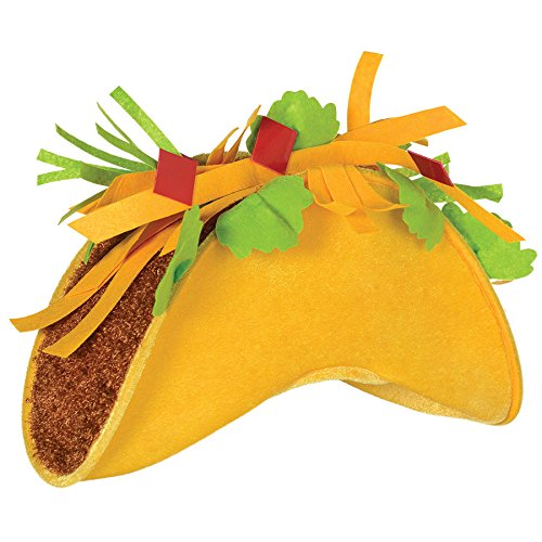 Amscan Taco Party-Hats, One Size, -