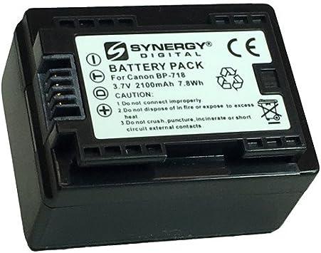 Amazon Com Synergy Digital Camcorder Battery Works With Canon Vixia Hf R500 Camcorder Li Ion 3 7v 2100 Mah Ultra Hi Capacity Battery Camera Photo