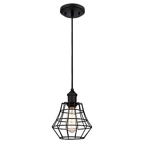Westinghouse Lámpara de Techo Colgante de 1 Luz E27, Negro mate, 154 cm