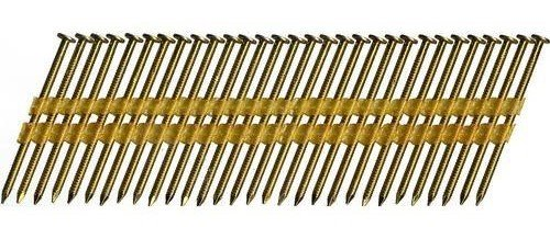 Hitachi 10120 3-1/2'' x 0.131'' Full Round Head Brite Smooth Shank Basic Plastic Strip Framing Nails 4000 count