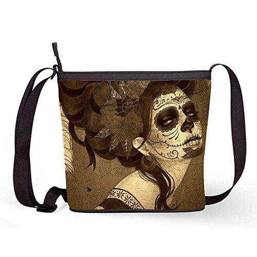 Popular Casual Female with Print Bag Bag Fashion Sugar Shoulder Bag Sling Bag17 and Skull Sling Sugar Crossbody xwfnqTF