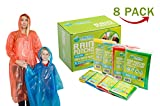 Poncho Family Pack - Emergency Disposable Rain Ponchos-...