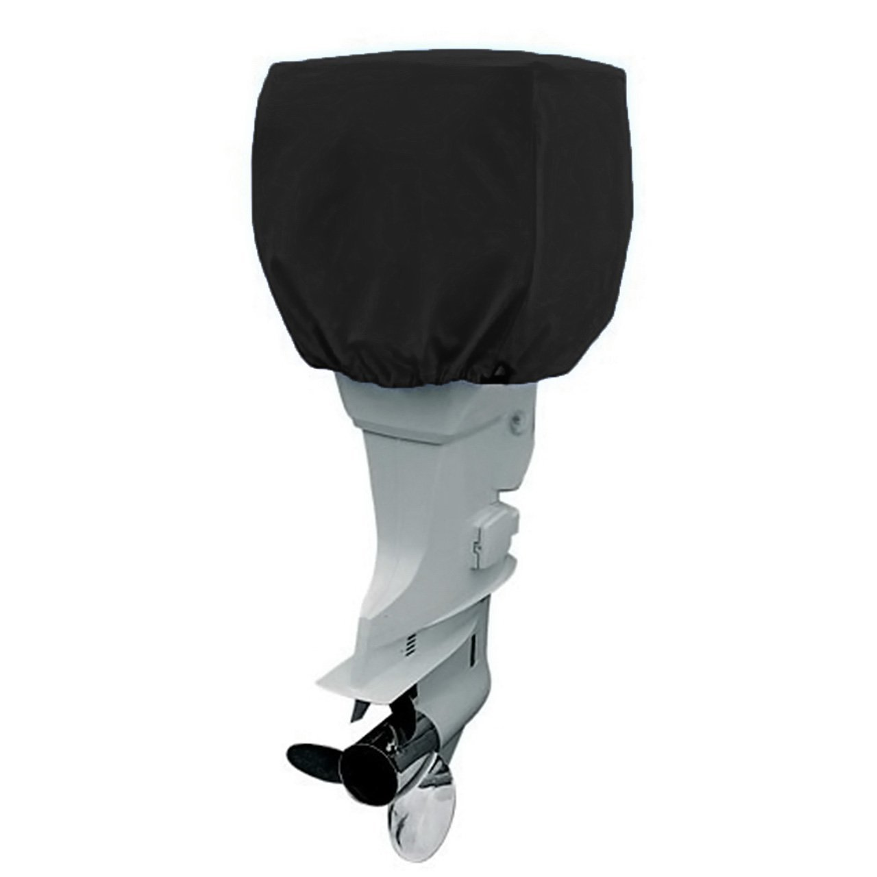 COCO Outboard Motor Cover Waterproof Boat Motor Cover, Outboard Engine Cover Up to 115-225 Horsepower - Trailerable Heavy Duty Water and UV Resistant with Thick (Black,4 Strokes) by COCO