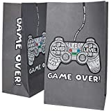 Blue Panda 36-Pack Gamer Party Goody Bags for Favors, Treats and Goodies - Video Game Party Supplies for Kids Birthday, 5 x 8.5 x 3 Inches