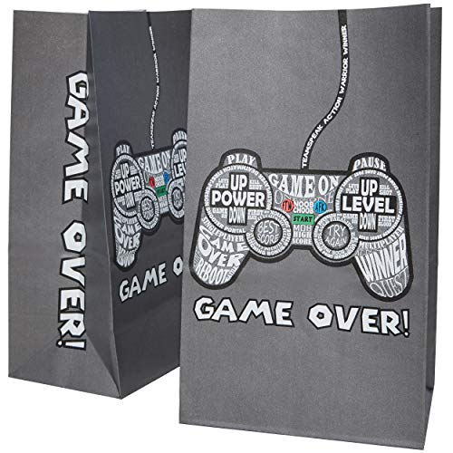 (Blue Panda 36-Pack Gamer Party Goody Bags for Favors, Treats and Goodies - Video Game Party Supplies for Kids Birthday, 5 x 8.5 x 3 Inches )