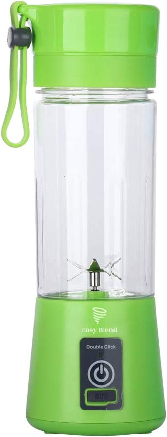 Easy Blend (Green)Portable Blender, Personal Size Blender Shakes and Smoothies Mini Jucier Cup USB Rechargeable Battery Strong Power Ice Blender Mixer Home Office Sports Travel Outdoors