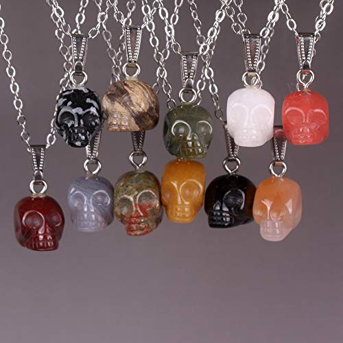 Handmade Crystal Carved Realistic Necklace | Healing Pendants | Charms Natural Stone 6Pcs (Tiger Eyes)