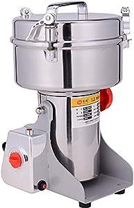 2000g Electric Grain Grinder Mill Powder Machine Swing Type 3800W Household Chinese Herbal Medicine Grinder Food Pulverizer for Kitchen Herb Spice Pepper Soybean Powder Grinder 110V Stainless Steel