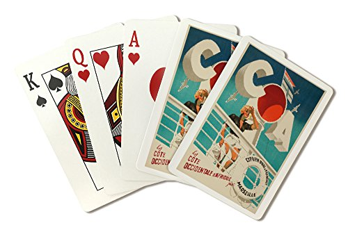 COA - Marseilles Vintage Poster (artist: Ducatez) France c. 1932 (Playing Card Deck - 52 Card Poker Size with -
