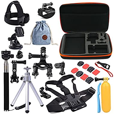 YRMJK Pro Basic Common Accessories Kits for GoPro HERO Cameras (26 Items)