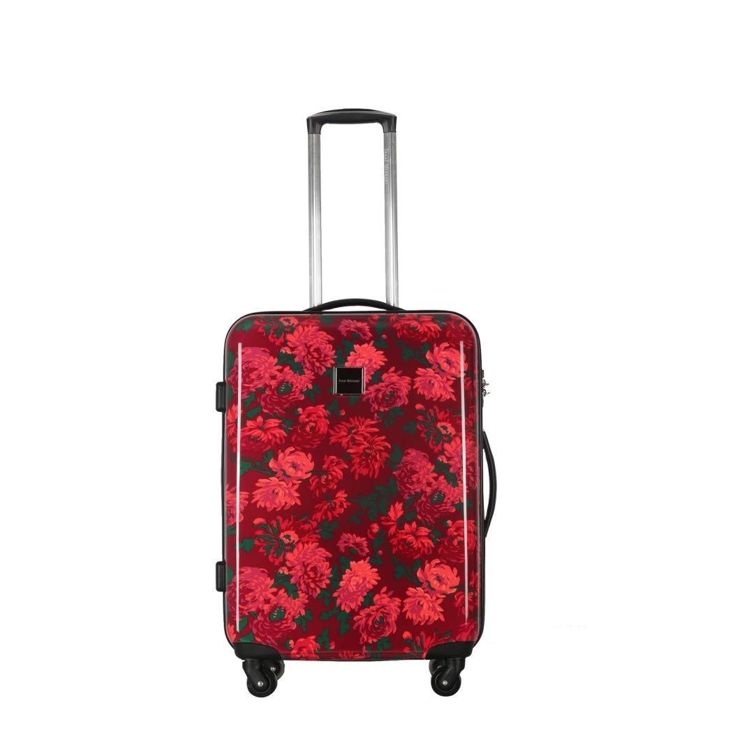 Girlsピンクberry-redフローラルテーマCarry On Upright Rolling 29インチスーツケース、優雅All Over Charming花印刷hard-sided旅行荷物、360スピナーホイール、ファッショナブルな、ポリカーボネート   B0797ZX7N9
