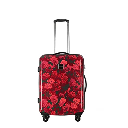 Amazon.com: Las niñas Rosa berry-red tema Floral Carry On ...