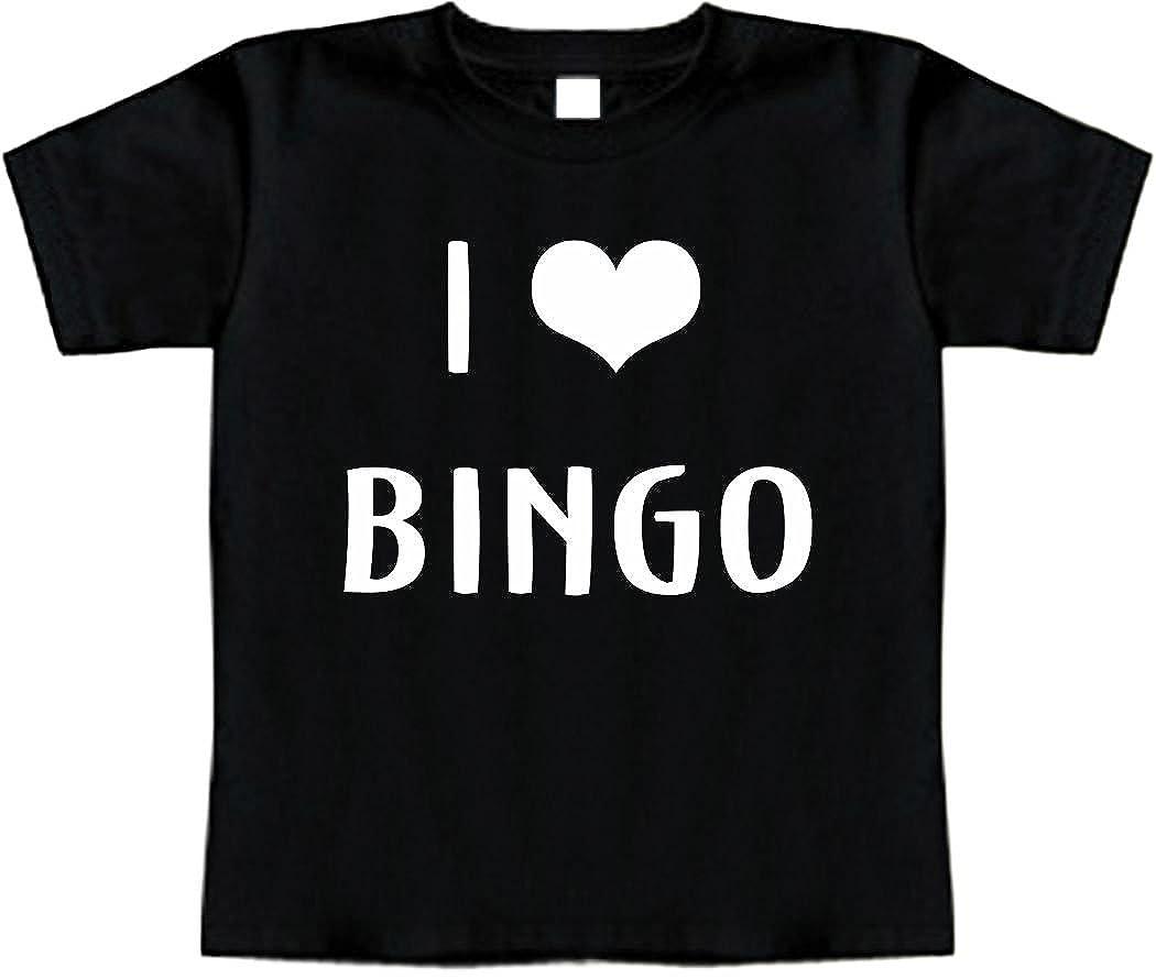 I Love Heart Bingo Funny Baby T-Shirt Toddler Tee Shirt