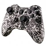 Designer Hydro Dipped Controller Replacement Shell for Xbox 360 Grave White Skull