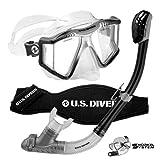 #7: U.S. Divers Lux Platinum Snorkeling Set, Panoramic View Mask, Pivot Fins, GoPro Ready Dry Top Snorkel
