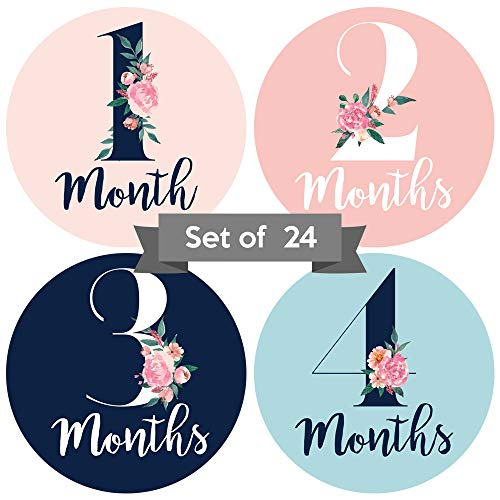 Monthly Stickers Floral Milestone Newborn