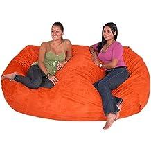Cozy Sack 7-Feet Bean Bag Chair, X-Large, Pumpkin