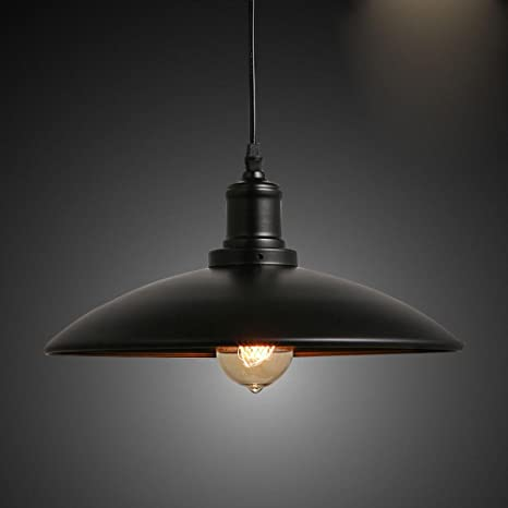 Lámpara Colgante Retro Luz De Techo Iluminación Literaria ...