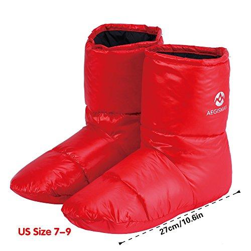 ec034a3654c1 WIND HARD Winter Down Booties Socks Slippers Warm Soft Cozy for Outdoor  Camping Sleeping Bag Indoor