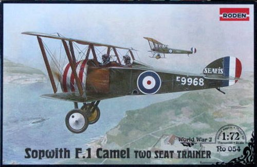 Sopwith Camel Cockpit - Roden Sopwith F.1 Camel Two Seat Trainer Airplane Model Kit