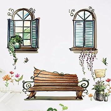 HCCY Sie Können Abnehmen Und An Der Wand Ansicht Wohnzimmer Schlafzimmer  Fenster Kopfteil Aus Glas PVC