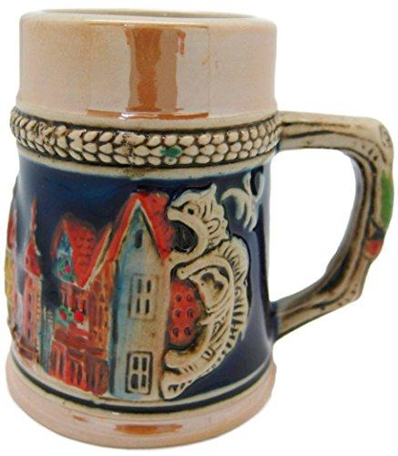 Germany Village Ceramic Beer Stein Shot Glass-2.5