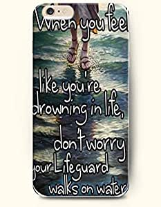 iPhone Case,OOFIT iPhone 6 Plus (5.5) Hard Case **NEW** Case with the Design of When you feel like you're drowning in life,don't worry Your lifeguard walks on water. - Case for Apple iPhone iPhone 6 (5.5) (2014) Verizon, AT&T Sprint, T-mobile