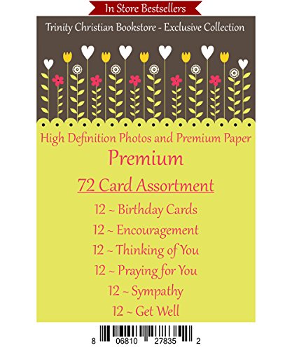 (Premium Quality All Occasion 72 ct Christian / Religious Greeting Card Asst. w/ Scripture ~ Free 6pk of Cards to Offset Shipping)