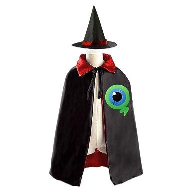 jieyia 106 jackse pticeye eyeball kids halloween party costume cloak wizard witch cape robe
