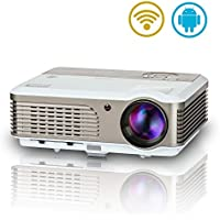 2017 Projectors 150 LED Video Projector HDMI 1080P HD Support, Android Home Cinema Theater WiFi Wireless Projector WXGA 2600 Lumen for Phone Laptop Tablet Blu-ray DVD Player (Warranty Included)