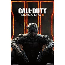 Bundle - 2 Items - Call Of Duty Black Ops 3 Poster - 91.5 x 61cms (36 x 24 Inches) and a Set of 4 Repositionable Adhesive Pads For Easy Wall Fixing
