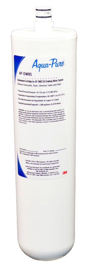 5584408 3M Aqua-Pure Under Sink Dedicated Faucet Replacement Water Filter Cartridge AP-DW85