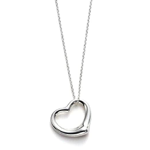 Amazon sterling silver floating heart pendant necklace w box sterling silver floating heart pendant necklace w box chain 16 inch mozeypictures Image collections