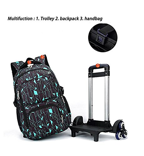 8150600505 YUB High-Capacity School Bag Backpack for Girl and Boy Students Rolling  Trolley Bags Climbing