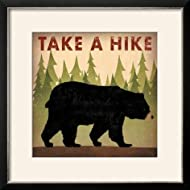 ArtEdge Take a Hike Black Bear by Ryan Fowler, Size 20W x 20H, Frame is Wood with a Gesso finish