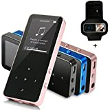 MP3 Player - HonTaseng Portable Touch Button Metal Music Player, Build-In Speaker Lossless Sound 30 Hours Playback Time With Voice Recorder And FM Radio (Gold)
