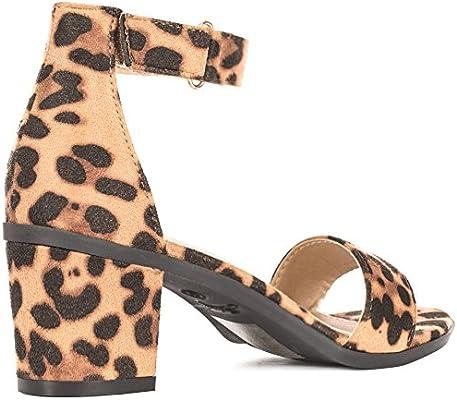 635358e2980 Women's Ankle Strap Kitten Heel Sandal - Comfortable Cute Low Block ...