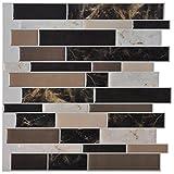 Backsplash Peel Stick Tiles Best Deals - Art3d 6-Pack Peel and Stick Vinyl Sticker Kitchen Backsplash Tiles, 12