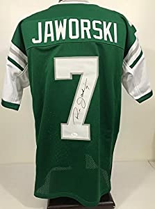 Philadelphia Eagles RON JAWORSKI Autographed/Signed Custom Jersey JSA 130861