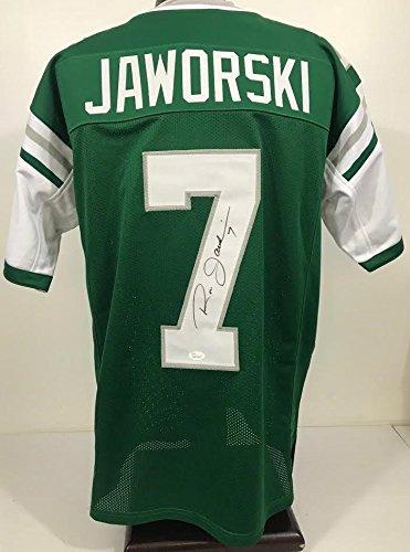 (RON JAWORSKI Philadelphia Eagles Autographed/Signed Custom Jersey JSA 130861)