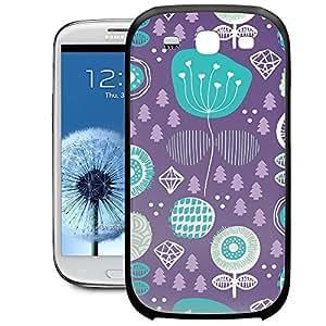 Bumper Phone Case For Samsung Galaxy S3 - Winter Garden Purple Protective Premium