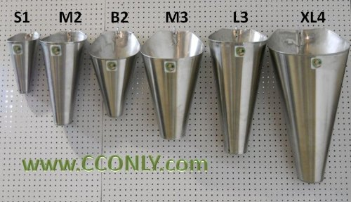 M2 Stainless Steel Chicken / Poultry Processing Restraining Killing Funnels Cones